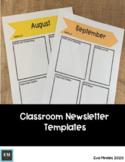 Editable Classroom Newsltetters