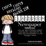 Classroom Newspaper