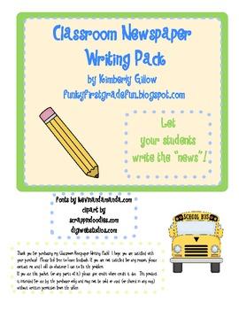 Classroom Newspaper Writing Pack