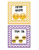 Classroom Noise Chart - Emoji images