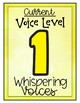 Classroom Noise Level Display Cards
