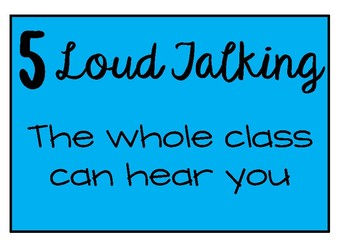 Classroom Noise Level Posters
