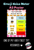 A3 Emoji Classroom Noise Meter Poster