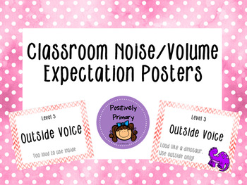 Classroom Noise Volume Control Managements Posters