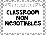 Classroom Non-Negotiables
