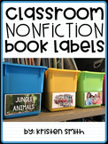 Classroom Nonfiction Book Bin Labels {featuring real life pictures}