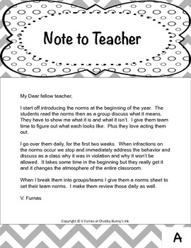 Classroom Norms For the Start of the School Year