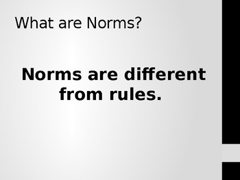 Classroom Norms Power Point