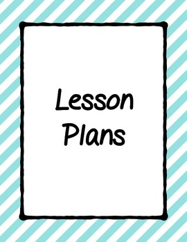 Classroom Notebook Cover Pages- Binder Cover Pages- Lesson