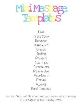 Classroom Notes Templates [Editable]