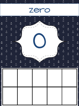 Classroom Number Cards {Preppy Nautical Theme!}