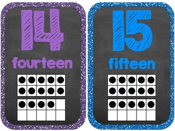 Classroom Number Cards {Rockin' Rockstar Theme} {Wall Cards/Posters}