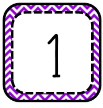 Classroom Number Labels