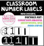 Classroom Number Bulletin Board Labels