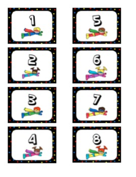 Classroom Number Labels - Back to School