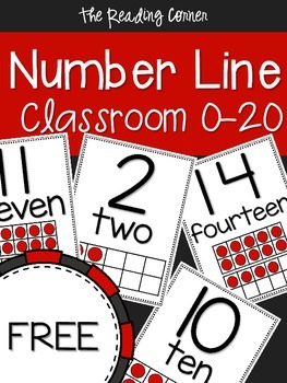 Classroom Number Line 0-20