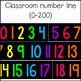 Classroom Number Line {0-200}