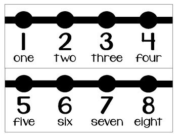 Classroom Number Line 1-60 BW