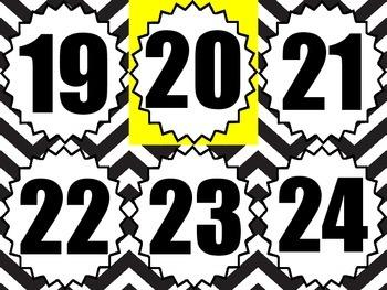 Classroom Number Line - Chevron