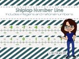 Classroom Number Line Including +-Rational & Integers (Shiplap Natural)