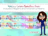 Classroom Number Line w/ +/- Rational & Integers (Water Color)
