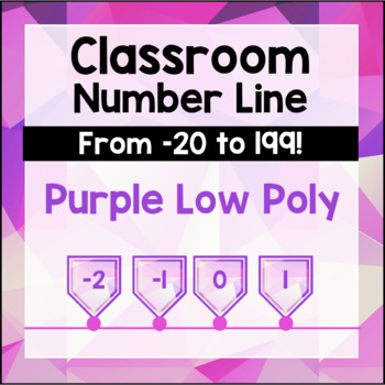 Classroom Number Line - Purple Geometric