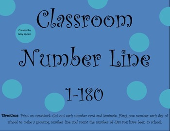 Classroom Number Line to 180