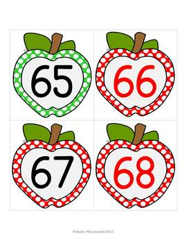 Classroom Number Line with Patterns for Skip Counting {Apple Theme}