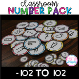 Classroom Number Pack -102 to 100 {FREEBIE}
