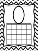 Classroom Number Posters: 0-20: Black and White Chevron