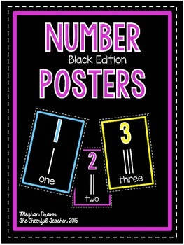 Classroom Number Posters (Black Edition)