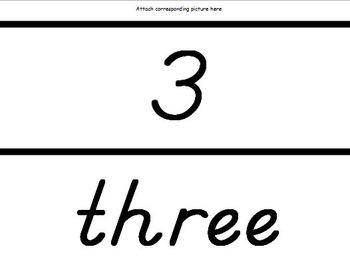 Kindergarten Number Posters - D'Nealian