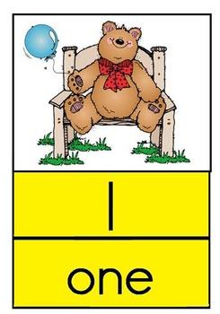 Kindergarten Number Posters - Traditional