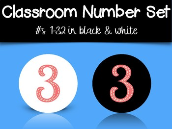 Classroom Number Set: Funky Colors