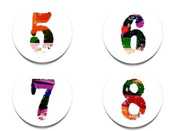 Classroom Number Set: Graffiti Font