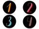 Classroom Number Set: Simple Colors