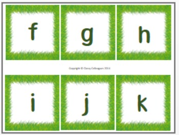 Number and Alphabet Cards, Green Grass
