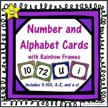 Number and Alphabet Cards, Rainbow