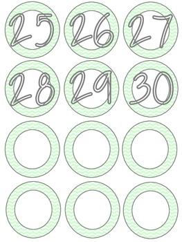 Classroom Numbers - Chevron