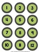 Classroom Numbers 1-36 (Chevron and Lime Green)
