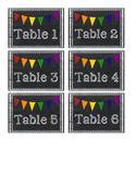Chalkboard Pennant Table Labels