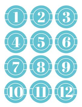 Classroom Numbers *FREEBIE*