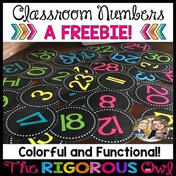 Classroom Numbers Freebie