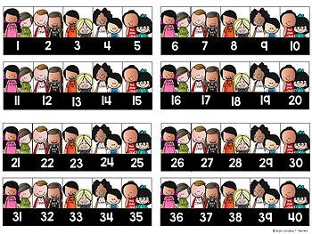 Classroom Numbers {Melonheadz Edition}