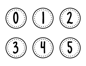 Classroom Numbers- No Words