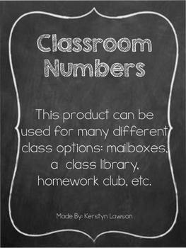 Classroom Numbers Organization Bulletin Board Mailbox Binder Desk