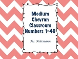 Classroom Numbers: Pink and Navy