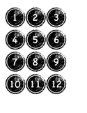 Classroom Numbers in Black and White