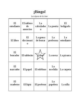 Classroom Object Bingo!
