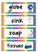 Classroom Object Labels/Signs - Class Setup - Rainbow Colors